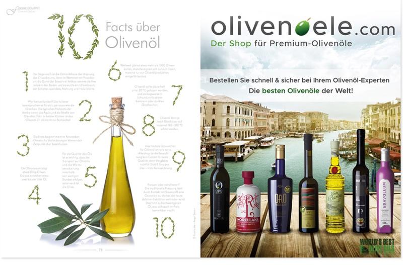 Fakten über Olivenöl - rechts die besten Olivenöle der Welt!