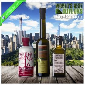 Weltbeste Bio-Olivenöle 2017 (WBOO) - 3er Siegerpaket