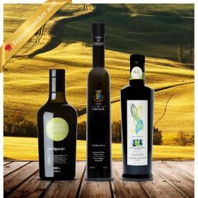 Testsieger FEINSCHMECKER Olivenöltest 2018 - 3er-Paket mittel fruchtig - Olio Award