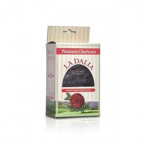 Getrocknete runde Paprika - geräuchert von La Dalia aus Spanien in der 30g Packung mit Sichtfenster