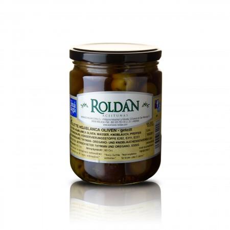 Violette Oliven - geteilt /eingelegt - 240g - Roldan
