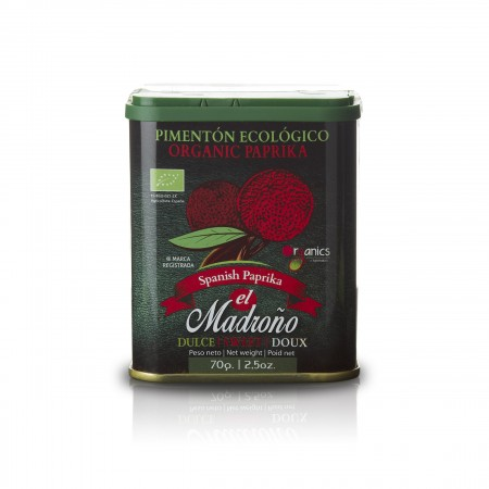 Pimentón Dulce Ecologico - Paprikapulver süß Bio - 70g - El Madroño