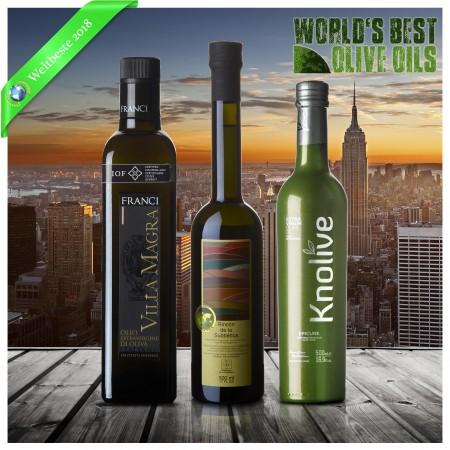 Weltbeste Olivenöle 2018 (WBOO) - 3er Siegerpaket