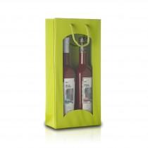 2er - Geschenktragetasche mit Fenster - Limette   14022