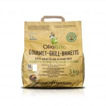 OlioBric - ökologische Grill-Briketts aus Olivenkernen für Gourmets