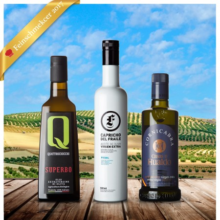 Testsieger Feinschmecker Olivenöltest 2017 - 3er-Siegerpaket