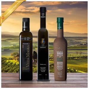 Feinschmecker 2019 Siegerpaket Olivenöltest - 3er Paket mild fruchtige Olivenöle