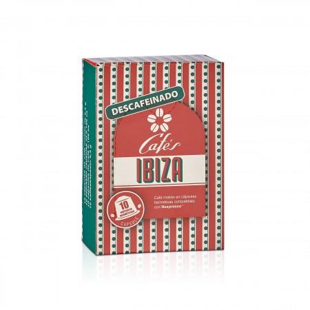 Cafés Ibiza - Bio - entkoffeiniert - kompostierbare Kapseln - 10 Stück