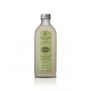Olivia Shamoo und Duschgel aus biologischem Olivenöl und Aloe Vera - natürliche Inhaltsstoffe für eine schonende Haarpflege