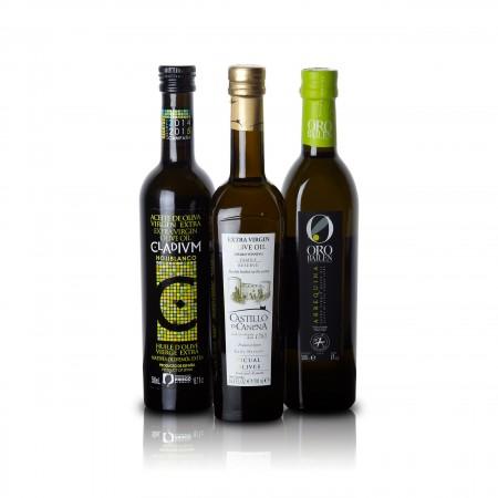 Feinschmecker Olivenöltest 2014 - 3er-Siegerpaket - Olio Award