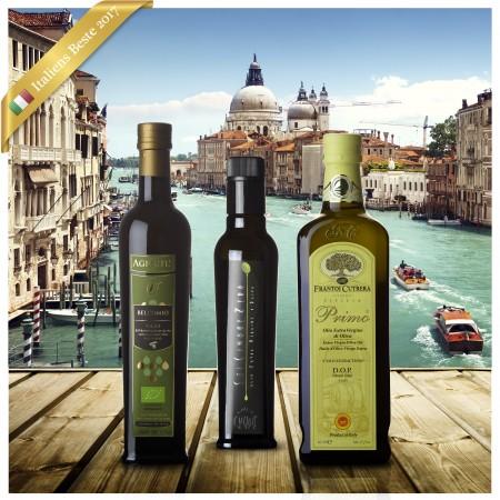 Italiens Beste Olivenöl 2017 Siegerpaket - Extra Natives kaltgepresstes Olivenöl erster Güte!