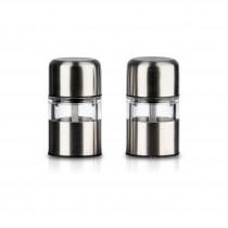 Mini Mühlen von Oliopac aus hochwertigem Edelstahl für Salz und Pfeffer