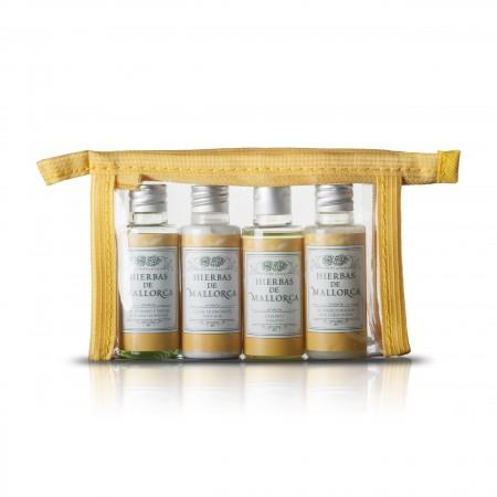 Hierbas de Mallorca Kosmetik Reise-Set inkl. transparenter Tasche mit Reißverschluss