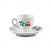 Cafés Ibiza - Espressotasse + Unterteller