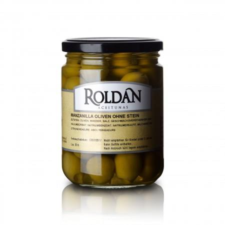 Manzanilla Oliven - ohne Stein - 190g - Roldan