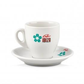 Cafés Ibiza - Cappucchinotasse + Unterteller