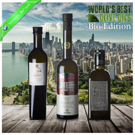 Weltbeste Bio-Olivenöle 2018 (WBOO) - 3er Siegerpaket