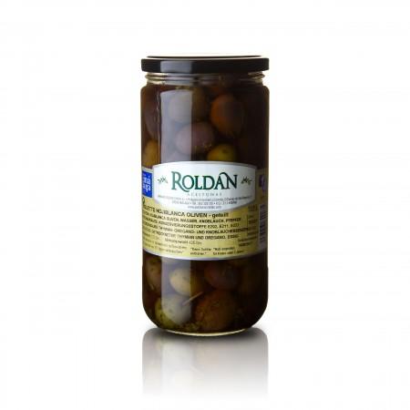 Violette Oliven - geteilt /eingelegt - 425g - Roldan