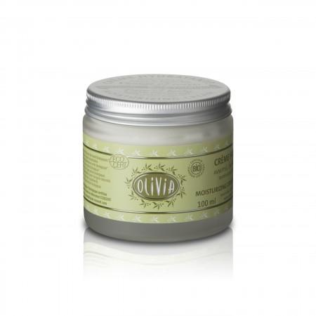 Bio Olivenöl Sheabutter Feuchtigkeitscreme von Marius Fabre im Glas mit Drehverschluss in 100ml - Wohlriechend und zart für die Haut