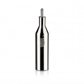 Ölflasche mit Ausgießer - Edelstahl -  0,25 l