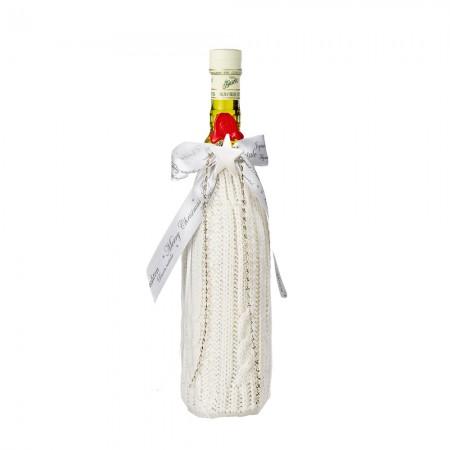 Flaschenschlauch aus Strick - creme