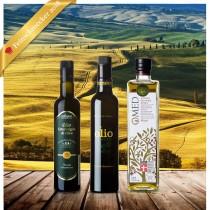 Testsieger FEINSCHMECKER Olio Award 2018 - 3er-Paket intensiv fruchtig - Olivenöltest